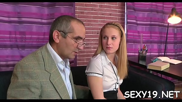 Old, Old teacher, Lustful, Blowing, Teacher fuck, Doggy-style