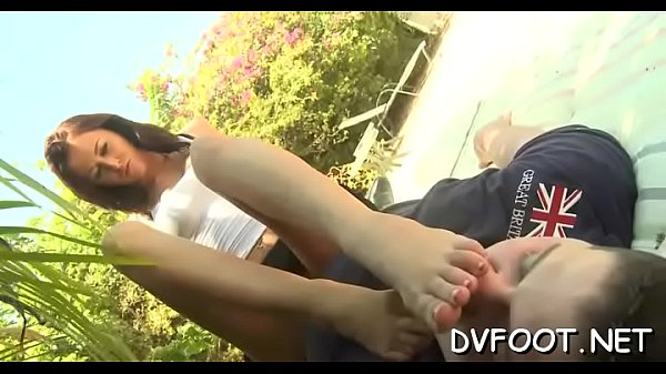 Sexy footjob, Hot and sexy