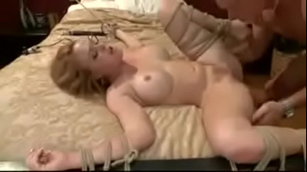 Tied, Tied fuck, Vibe, Tied to bed, Tied and fucked, Sucking cock