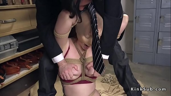 Huge tits, Huge toy, Huge anal, Redhead anal, Huge toys, Tied tits