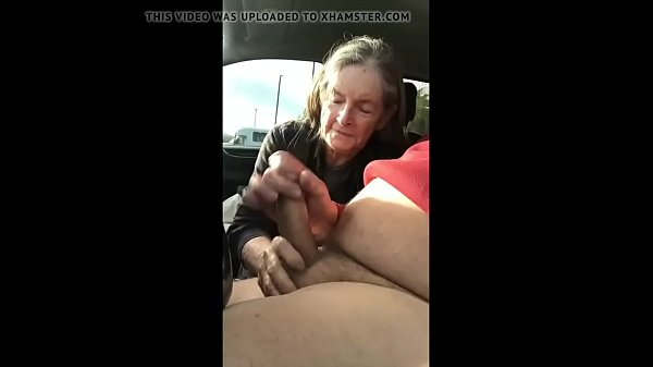 In car, Granny blowjob, Blowjob in car, Car blowjob, Cum in car, Blowjob cum