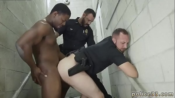 Police, Chocolate gay, White gay, Chocolate, Police fuck, Police fucking