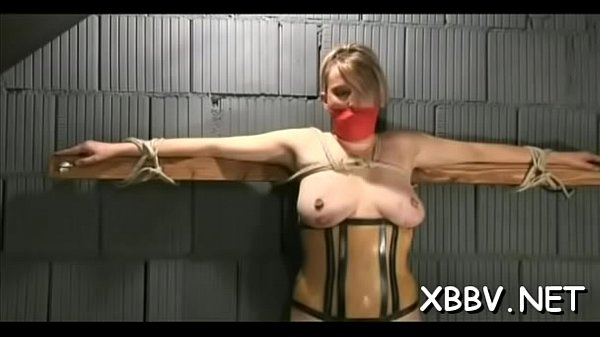 Rope, Standing, Stand up, Roped, Standing up, Tied boobs