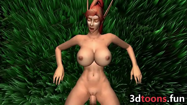 Big tits, Elf, Forest sex, Big tits fucking, Big tits sex, Sex in forest