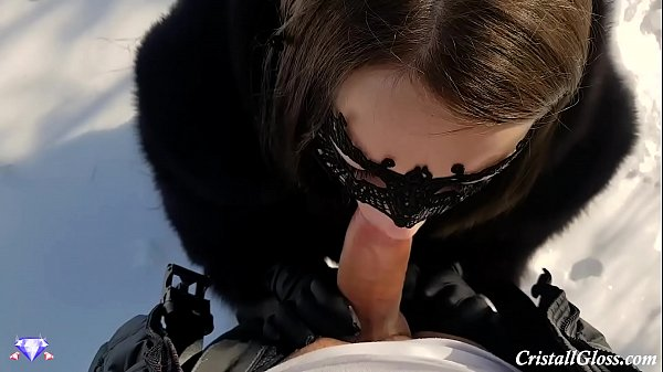 Pov blowjob, Park, Winter, Public blowjob, Blowjob pov, Public pov