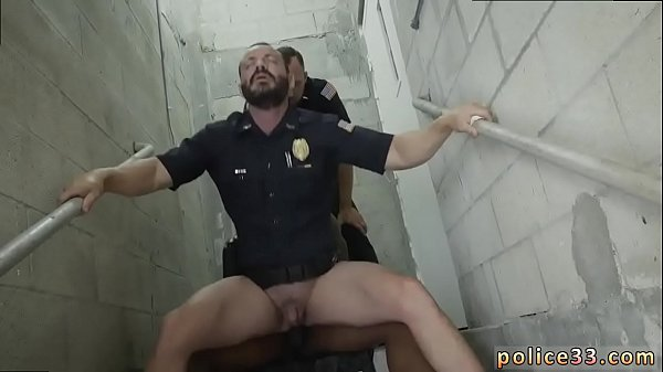 Police, Black and white, Muscle man, Police fuck, Muscle men, Gay police