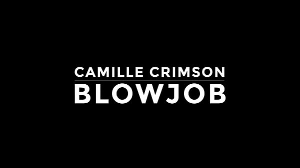 Sensual blowjob, Camille crimson