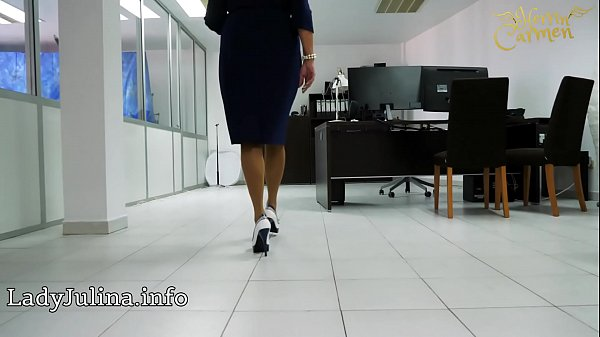 Nylon, Heels, Nylons, Mature office, Mature mistress, Heels show
