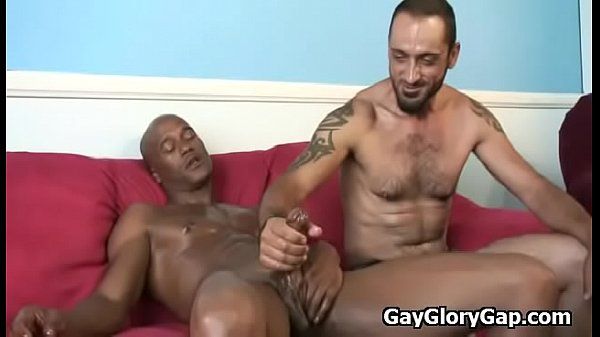 Handjob, Interracial handjob