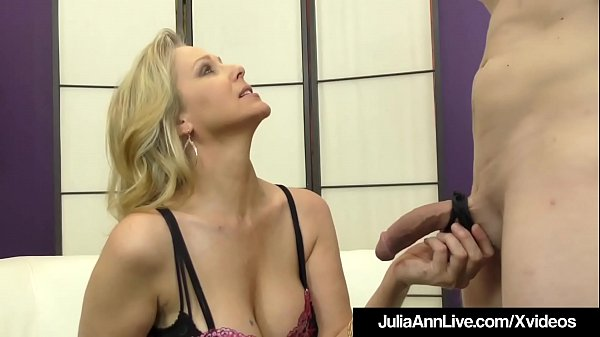 Julia ann, Julia, Foot slave, Foot fuck, Milf foot, Footing
