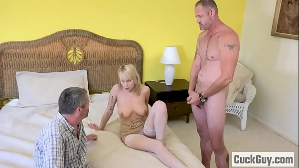 Wife bang, Blonde wife, In front of wife, Blond wife