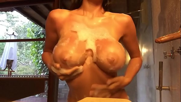 Super big, Hot shower, Super tits, In shower, Big tits shower