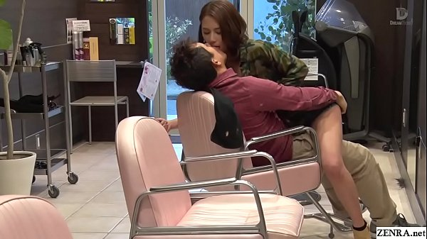 Subtitle, Subtitles, Subtitled, Hair salon, Jav blowjob