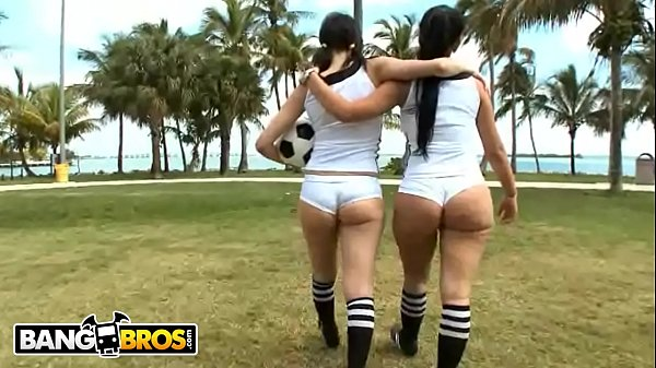 Big, Soccer, Field, Latin ass, Public ass, Big girls