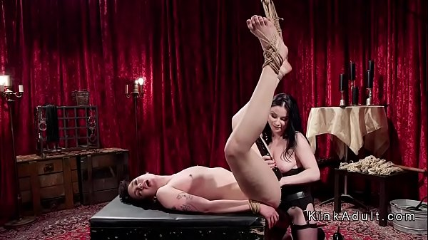 Anal fuck, Tied fuck, Floor, Tied anal, Lesbians anal, Lesbian tied